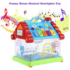Kunsheng Funny Musical Casa Piano Elettrico Starlights Bambini Precoce Regalo Intelligente Giocattolo