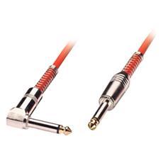 Cavo audio 6,3mm mono con un connettore ad angolo, 3m rosso