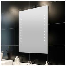 Specchio Da Bagno 50 X 60 Cm (L H) Con Luci Led