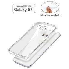 Custodia Cover Per Samsung Galaxy S7 Trasparente Silicone Top Quality Wimitech