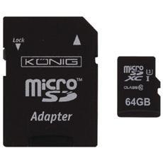 64GB MicroSDXC, MicroSDXC, Nero, UHS-I, Class 10, microSD, Plastica