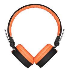 Cuffie con Microfono Cablato Speak Style Colore Nero Arancione