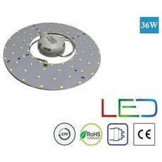 Piastra Led Circolare Neon Anello Disco Plafoniera T9 G10q 36w Watt 72 Led Luce Fredda 6000k