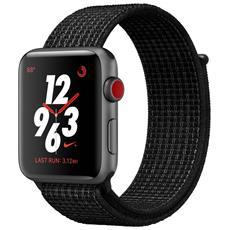 Watch Nike+ GPS + Cellular da 42 mm Cassa in alluminio Nero con cinturino Nike Sport Loop Nero