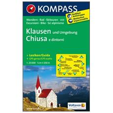Carta escursionistica n. 059. Chiusa e dintorniKlausen und Umgebung 1:25.000. Adatto a GPS. DVD-ROM. Digital map
