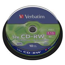 CD-RW DataLifePlus 8-10x 700MB Hi-Speed 10pz Spindle