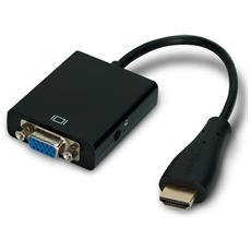 ADATTATORE HDMI / VGA ATLANTIS A04-HM-CV025 con audio analogico- NERO EAN: 8026974016559