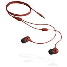 Sumo Salsa Stereofonico Auricolare Rosso cuffia e auricolare