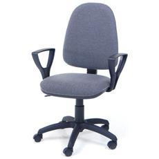 Poltrona operativa grigio da ufficio per studio da cameretta
