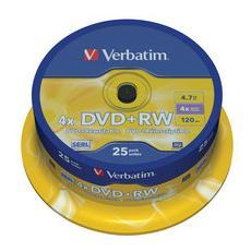 DVD+RW 4x 4.7GB Advanced SERL 25pz Spindle