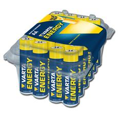 Confezione da 24 batterie stilo Alcaline Varta Energy - Tipo AA