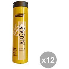 Set 12 Argan Shampoo Nutriente 200 Ml. Prodotti Per Capelli