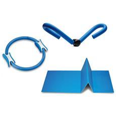 Kit Palestra Pilates Ring, Thigh Toner E Tappetino Movi Home Fitness