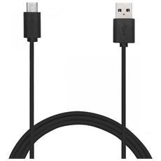 USB - micro USB 1m, USB A, Micro-USB B, Maschio / maschio, Dritto, Dritto, Nero