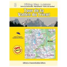 Tour de la Vallée du Trient. Carta escursionistica