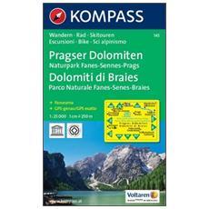Carta escursionistica n. 145. Dolomiti di BraiesPragser Dolomiten 1:25.000. Adatto a GPS. DVD-ROM. Digital map