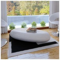 Tavolino In Fibra Di Vetro Bianco