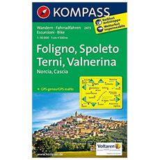 Foligno, Spoleto, Terni, Valnerina, Norcia, Cascia. Wandern, Rad. Reissfest, wetterfest. GPS-genau 1:50.000