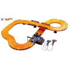 Hot Wheels - Pista Elettrica Lunghezza 380 cm con Alimentatore 1:43