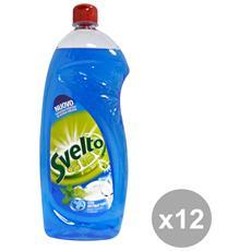 Set 12 Piatti 1 Lt. Menta+antibatterico Detergenti Casa