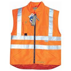 Gilet Ad Alta Visibilità Goodyear In Poliestere Traspirante E Impermeabile Colore Arancio Con Retina Interna Taglia M