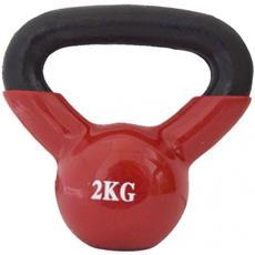 Kettlebell Peso Palestra Neoprene Rosso Allenamento Cardio Muscolare Casa 2kg