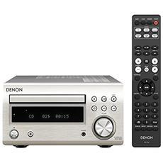 Sintoamplificatore con CD RCD-M41. 30+30 W, convertitore 24/192, lettura MP3, ingresso USB frontale, colore premium silver