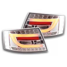 Fari Fanali Posteriori Led Audi A6 Berlina (4f) Anno Di Costr. 04-08 Cromato