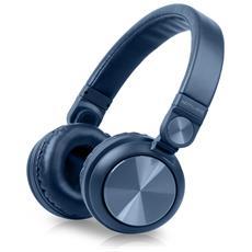 M-276 BTB Padiglione auricolare Stereofonico Con cavo e senza cavo Blu auricolare per telefono cellulare