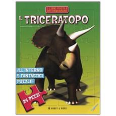 Il triceratopo. Libro puzzle