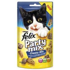 Snack per gatti Party Mix Cheezy Mix Cheddar, Gouda ed Edamer 60 gr