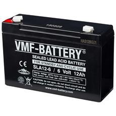 Batteria Agm Standby E A Ciclo 6 V 12 Ah Sla12-6