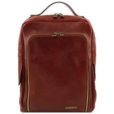 bangkok zaino porta notebook in pelle marrone tl141289/1