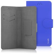 """Flip Cover Custodia Classic Detachable universale per 5.5"""" colore Blu"""