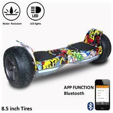 8.5 Pollici Bluetooth+app Suv Hoverboard Monopattino Elettrico Scooter Smart Balance Allroad Skateboard Hiphop