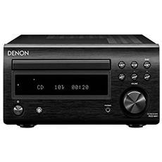 Sintoamplificatore con CD RCD-M41. 30+30 W, convertitore 24/192, lettura MP3, ingresso USB frontale, colore NERO