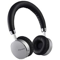 Cuffia Bluetooth con Tecnologia NFC e Microfono Integrato Nero / Argento