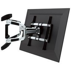 """Supporto Montaggio a Parete per Schermi LCD Plastica Alluminio e Acciaio Nero 55"""" 50 kg 650314"""