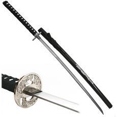 Katana Ornamentale Spada Giapponese Per Arredamento Nera Dragone Con Drago Black Dragon In Metallo