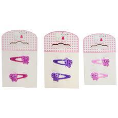 Set 6 Mollette Per Capelli Fiocchetti Multicolore