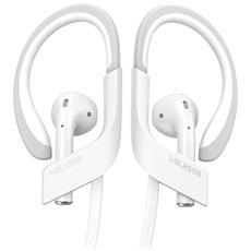 Cavo Porta Cuffie Per Airpods [18 Pollici = 0,45 Cm Lunghezza ] Airpods Strap Per Iphone 7 E Iphone 7 Plus (Bianco)