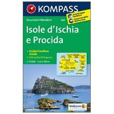 Carta escursionistica n. 680. Isole d'Ischia e Procida 1:15.000 + piantina 1:10.000. Adatto a GPS. DVD-ROM. Digital map