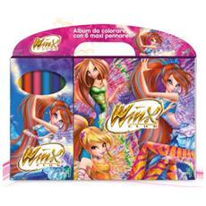 Winx Club - Set 6 Maxi Pennarelli Con Album Da Colorare