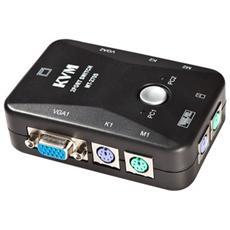 Switch Kvm 2 Porte Ps2 Tastiera Monitor Mouse Commutatore Adattatore Pc