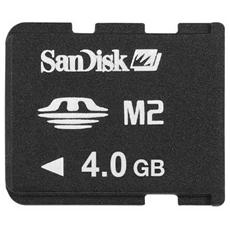 PSP - SanDisk Memory Stick Micro M2 4 Gb per PSP Go