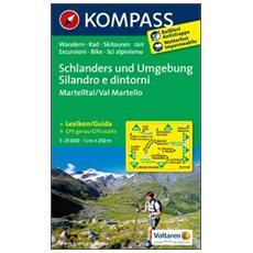 Carta escursionistica n. 069. Silandro e dintorniSchlanders und Umgebung 1:25.000. Adatto a GPS. DVD-ROM. Digital map