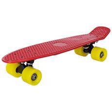 Skateboard Mini (57 X 15 X 12 Cm) (abec 7 - Cuscinetti A Sfera) (rosso - Giallo) Skateboard Per Bambini / Tavola Vintage