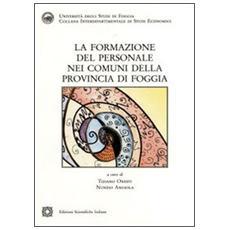 La formazione del personale nei comuni della provincia di Foggia