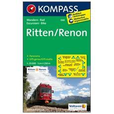 Carta escursionistica n. 068. RenonRitten. Adatto a GPS. DVD-ROM. Digital map