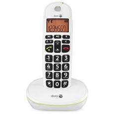 Cordless PhoneEasy 100w, DECT, Bianco, Scrivania, 20 Entrate, AAA, 10h